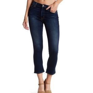 Hudson Harper High Rise Cropped Baby Flare Jeans
